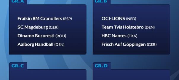 Modstandere i gruppespillet EHF Cup
